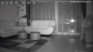 Überwachungskamera mit Nachtsichtfunktion
