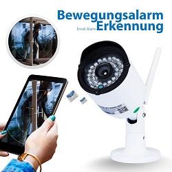Überwachungskamera mit integriertem Bewegungsalarm