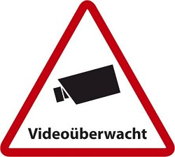 Aufkleber Videoüberwacht