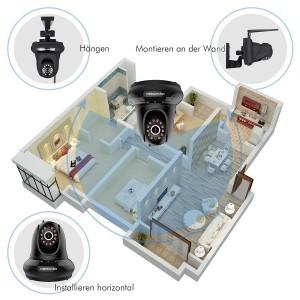 DB POWER IP Camera FI366 Anbringungsmöglichkeiten