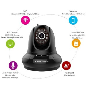 DB POWER IP Camera FI366 alle Features